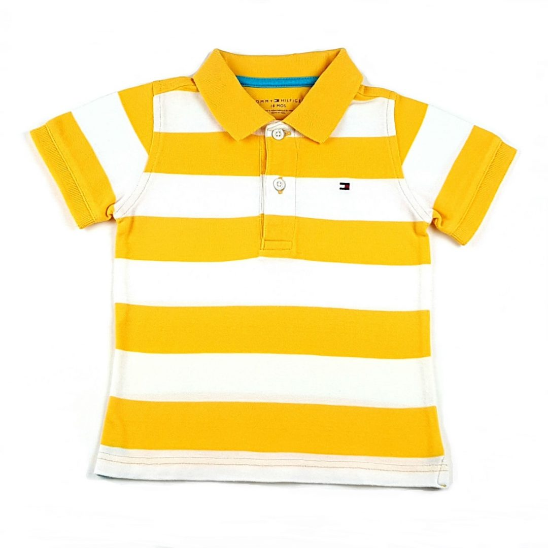Camisa Polo Listrada Amarela Tommy Hilfiger – Pig Pega 48a260885518d