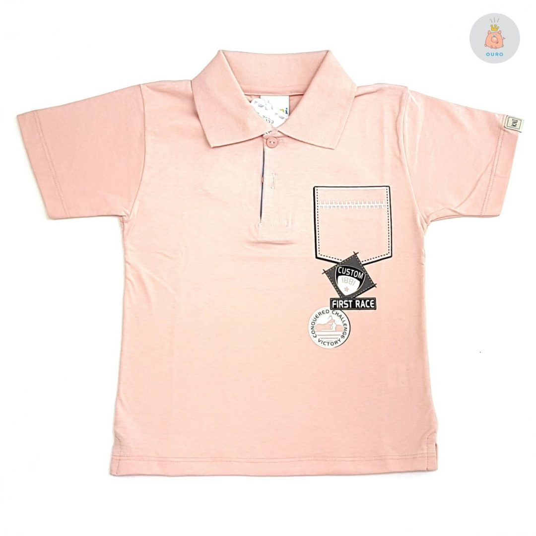 b597f75c52 Camisa Polo Rosa Kaiani – Pig Pega