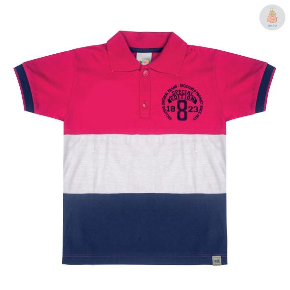 Camisa Polo Rosa a88325ca17927