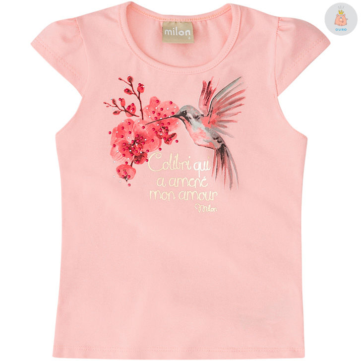 a14a4a4b20 Blusa em Cotton Rosa Beija Flor Milon – Pig Pega