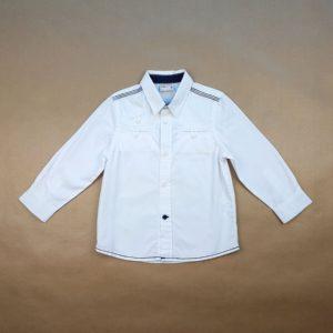 Camisa Manga Longa Branca com Azul Pré Natal