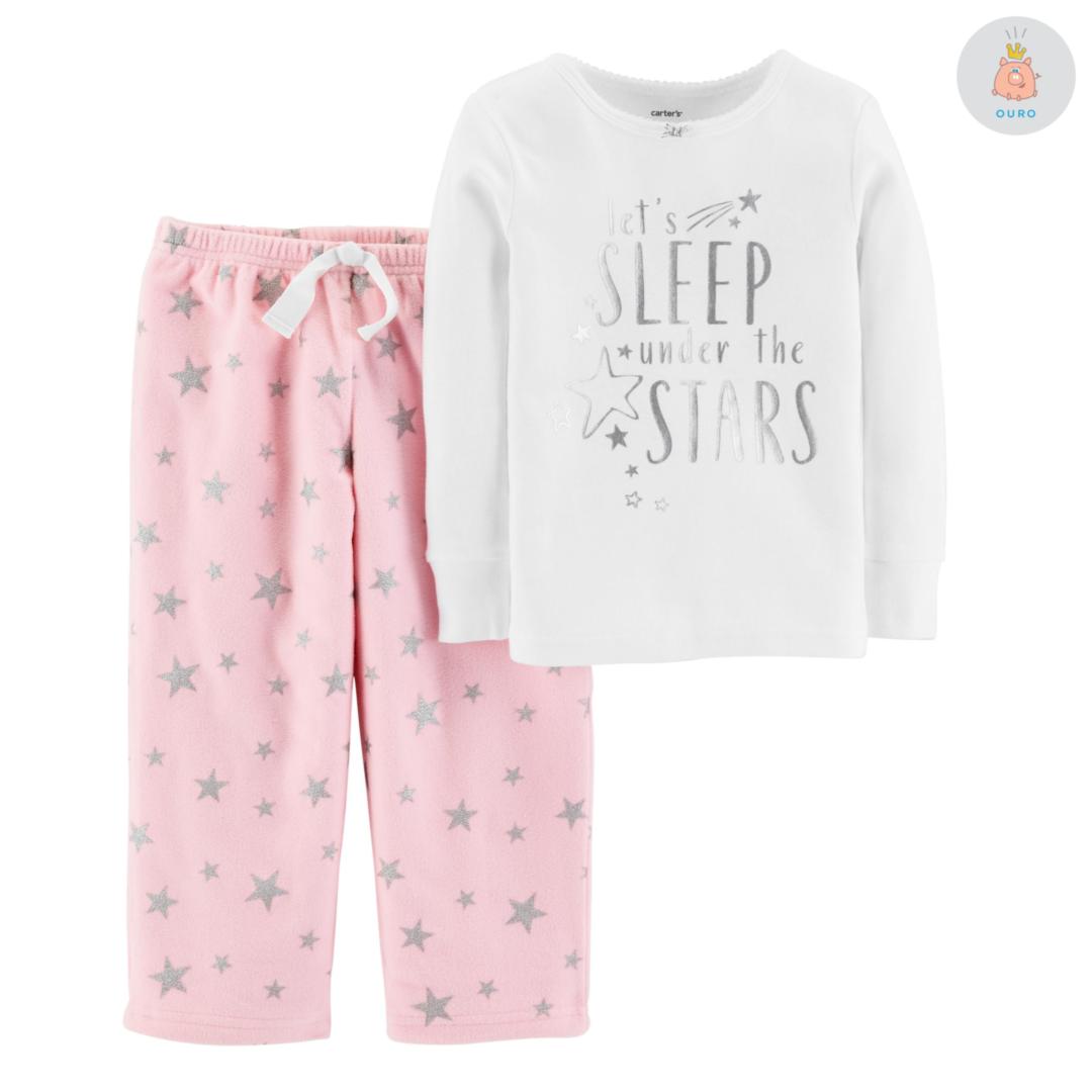 937ae80b8d Pijama Estrelas Blusa Algodão e Calça Fleece Carter s – Pig Pega